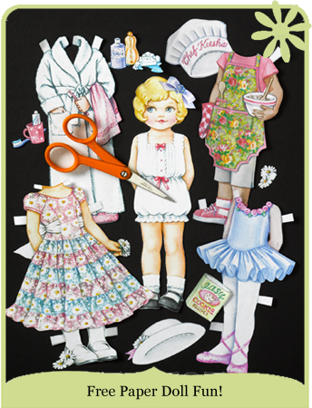 Free Paper Dolls, Patty Reed Paper Dolls | Patty Reed Designs